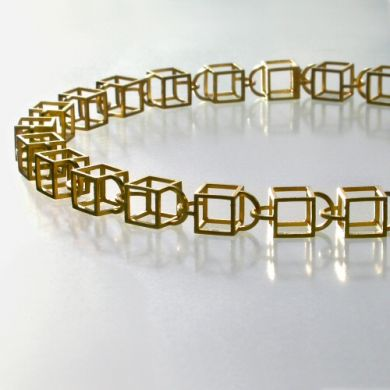 Kette Cube10, 750/- Gold