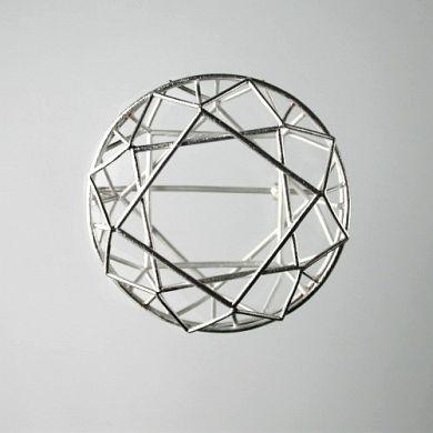 Jewel Brosche Donut, Silber