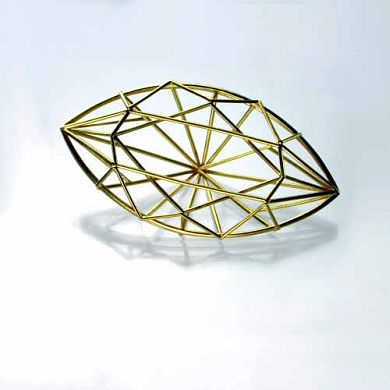 Jewel Brosche Navette, 750/-Gold