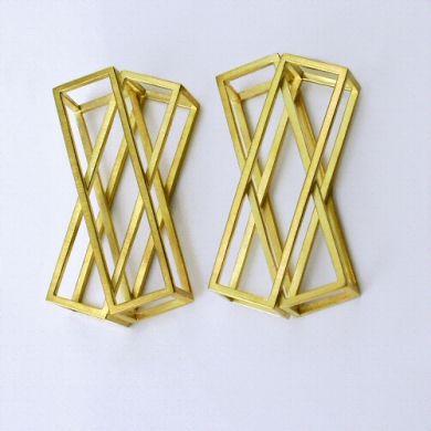 Cube Ohrringe X, 750/-Gold