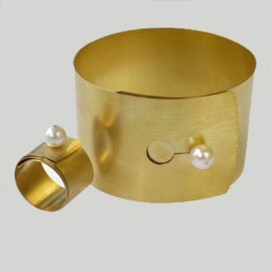 Armspange, Ring, 750/-Gold Perle