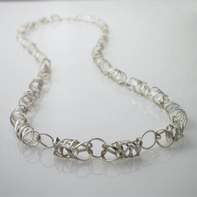 Line Kette Rolle 1m,  Silber