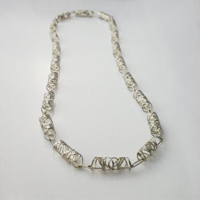 Line Kette Rolle/2 1m, Silber