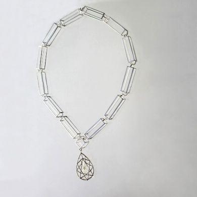 Jewel Kette Tropfen, Silber