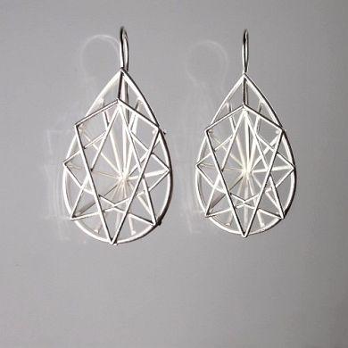 Jewel Ohrringe Tropfen, Silber