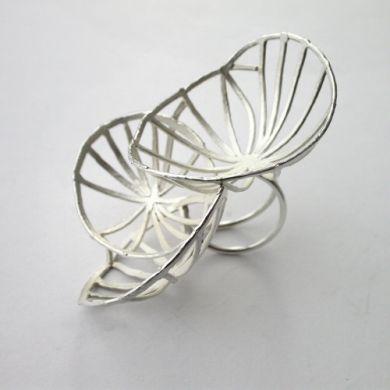 Line Ring, Silber