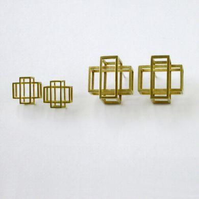 Ohrringe Kreuz, 750/-Gold