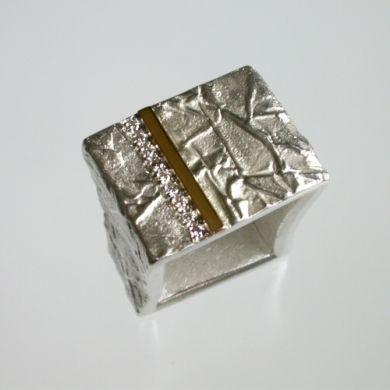 Tex Ring Tor, Silber Gold Brillanten